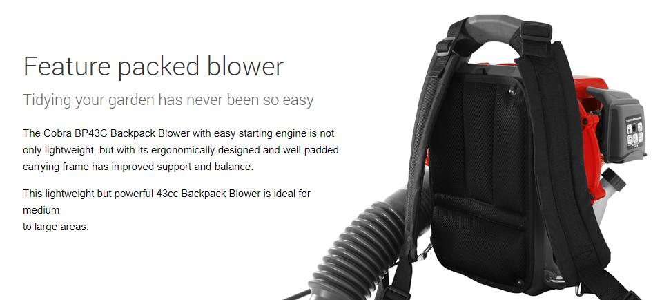 CObra petrol backpack blower
